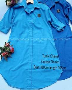 tunik chanel 2 warna