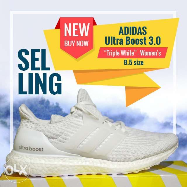4f5fd955975e9 Adidas Ultra Boost V3 TRIPLE WHITE - XMAS SALE!!! in Quezon City ...