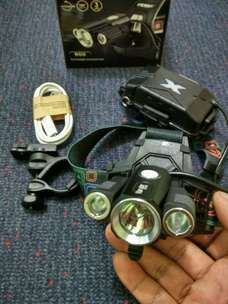 Senter kepala headlamp Highlight 3 LED cree siap antar