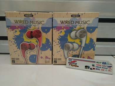 Earphone Wired Music Remax RM 569