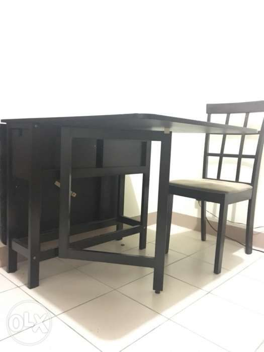 Foldable Dining Table With Two 2 Chairs Perfect For Condo