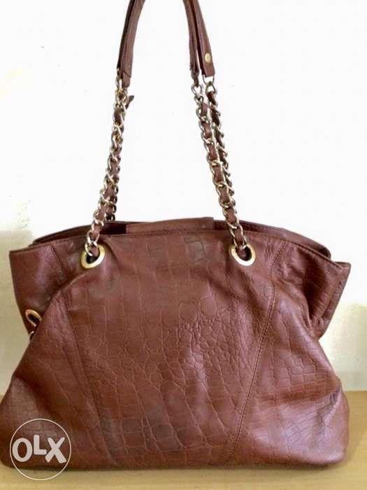 95e6b5606e12 Auth Armani Exchange Large Chain Tote Bag not Coach Spade Kors Bally ...