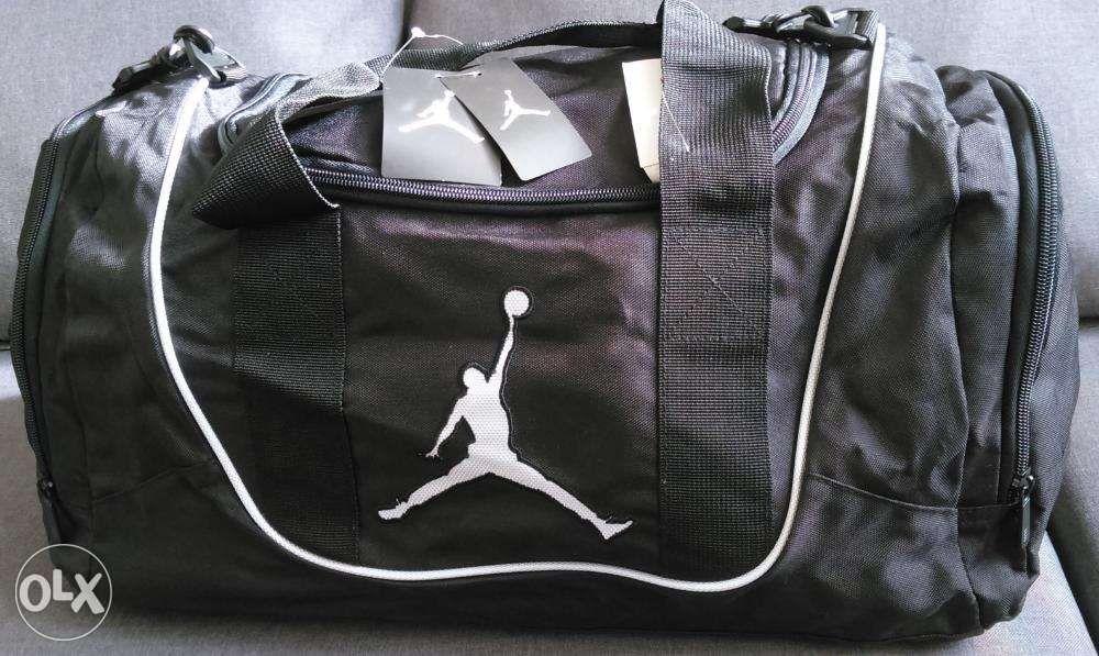 c3a495c2f9280a Nike Air Jordan Duffel Gym Bag in Black and White 9A1498210 NewUSA ...