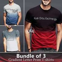 Gradiant letter printed t shirts