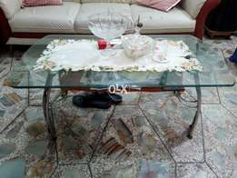 Sofa with center table.