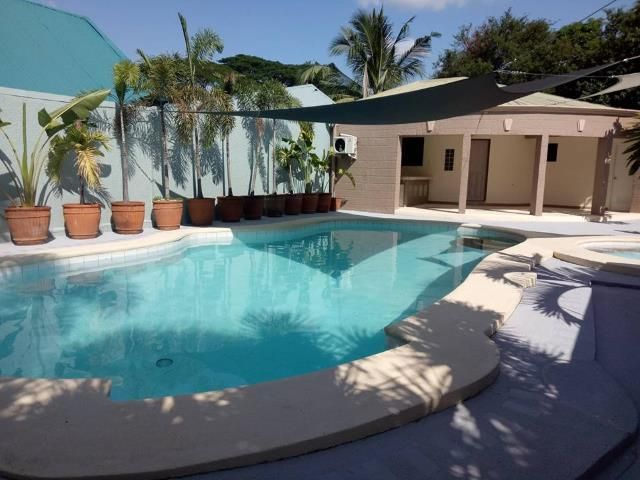 House And Lot For Rent With Huge Swimming Pool In Friendship 120k