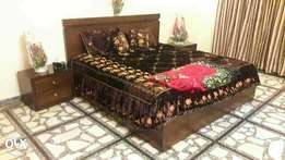Fine quality bed with side table