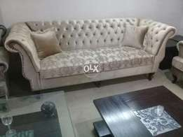 New drawing room classic design sofa seven seater in shaineel fabric