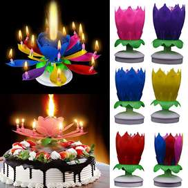 Flower Style Musical Sparking Birthday Candle