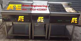 level hot plate with grill steel made avail..