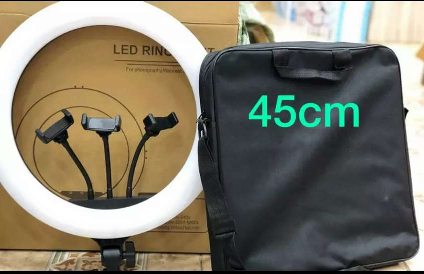 45cm Full Size Ring Light With 3 Mobile Holder FIX PRICE - Cameras & Accessories - 1020201580