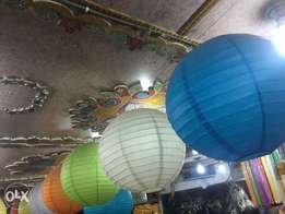 Hanging paper Lanterns, Sky lanterns, Party props, Birthday candles
