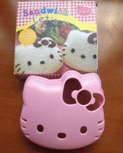 Cetak Roti Tawar Sandwich Hello Kitty