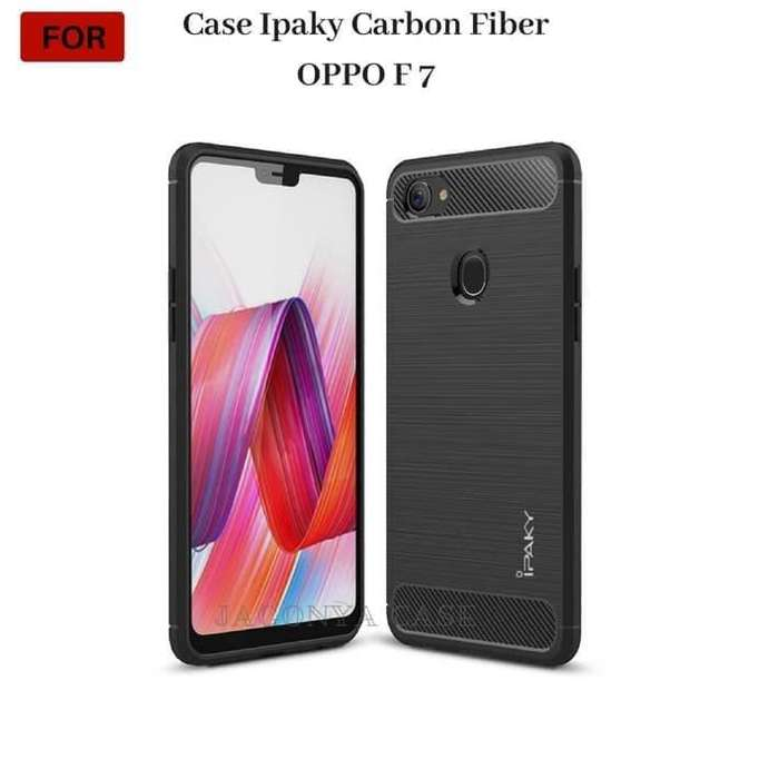 the best attitude 269a5 89994 Case Softcase Hardcase Ipaky Carbon Fiber Oppo F7