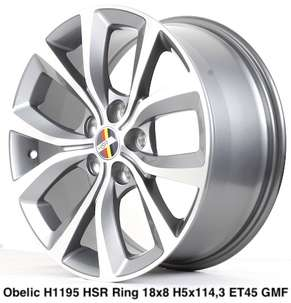 Velg Mobil Model OBELIC H1195 HSR Ring:18X8 Hole:5X114,3
