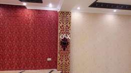 Contracted waterproof adhesive wallpaper pure color sitting room