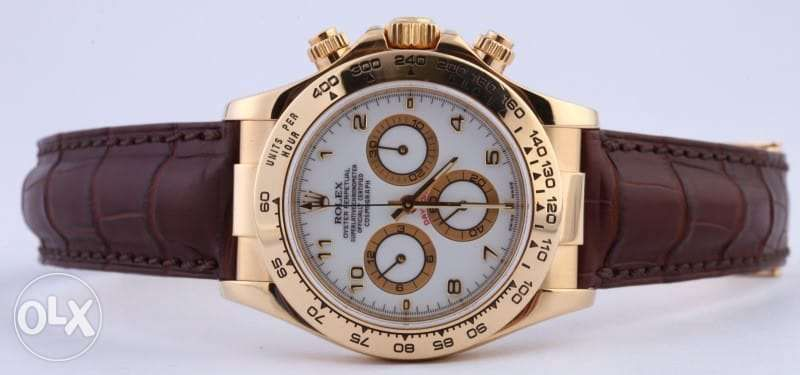 Rolex Daytona Yellow Gold Leather Strap From Arbon Switzerland In