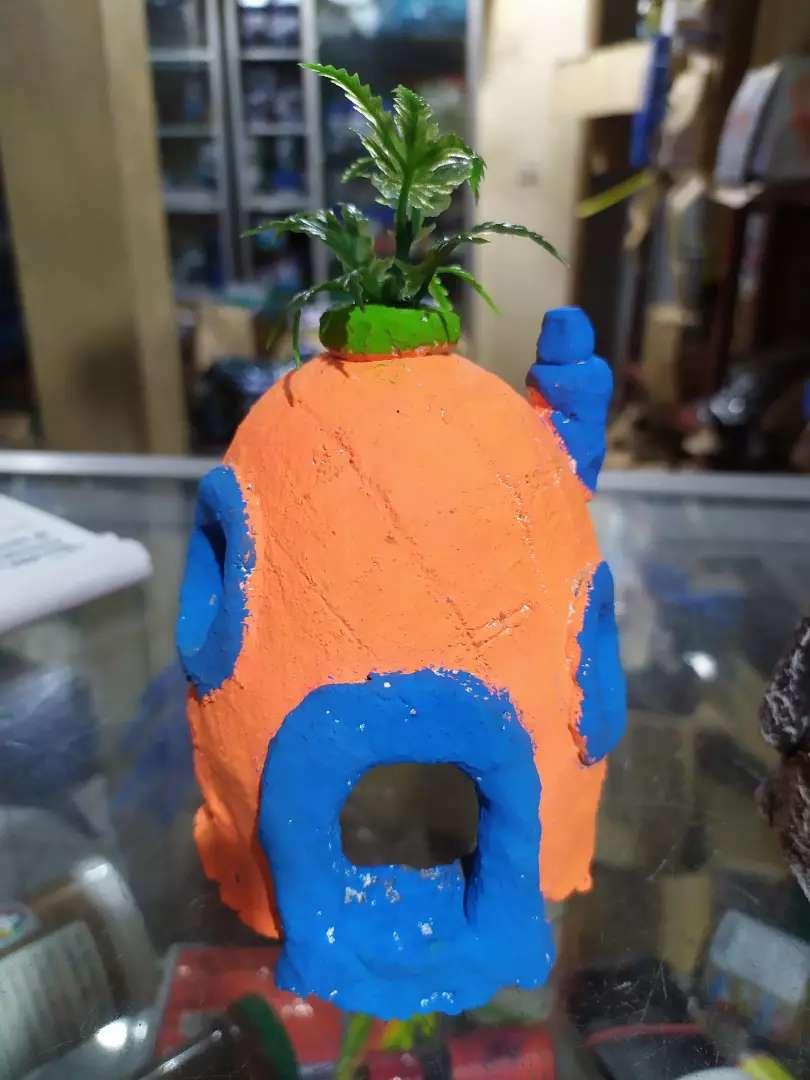 Hiasan Aquarium Rumah Nanas Hewan Peliharaan 782474279