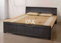 Stylish king size bed with two sides table