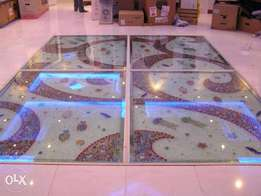 12mm Temper Glass Floor with Unique Style