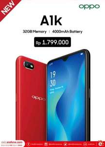 New Product Oppo A1K