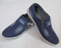 Brand New Canvas Dark Blue Jeans Shoes.