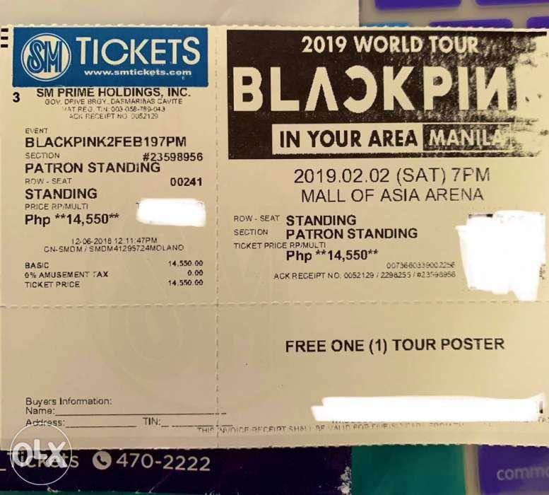 Blackpink Concert Ticket Patron Standing In Makati Metro Manila