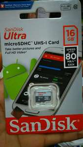 Micro SD Sandisk 16GB class 10 speed 80Mbps