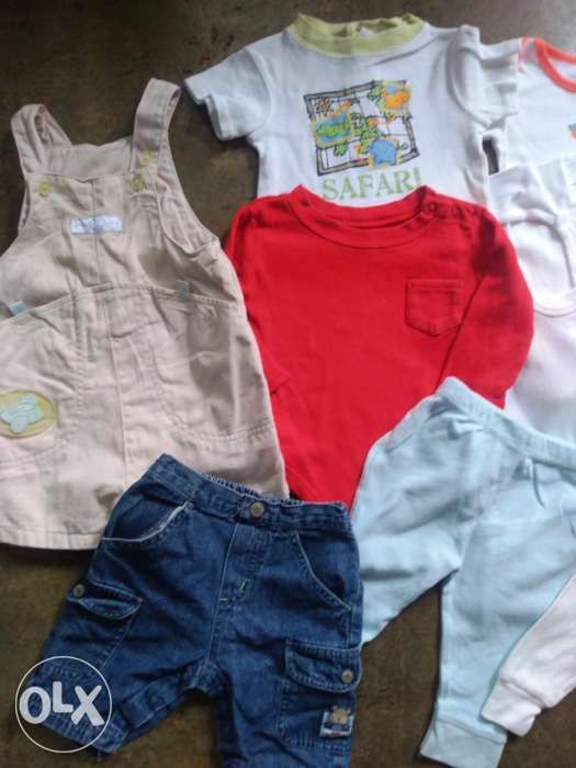 15246c94c Preloved baby boy clothes set shorts onesies romper nb-12 months in ...