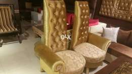 High back bedrooms chairs pair