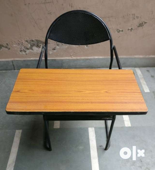 Study Chair With Table Attached For Classroom