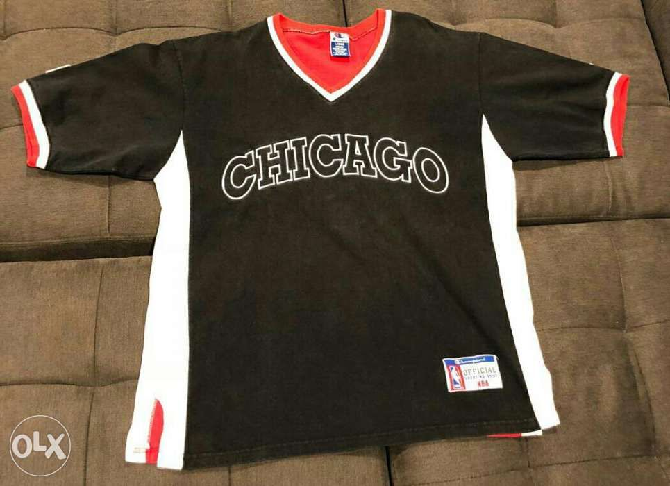 1da96f672bae92 nba michael jordan chicago bulls vintage shooting shirt warmer in ...