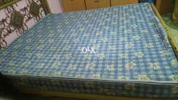 Iron double bed for sell with matress