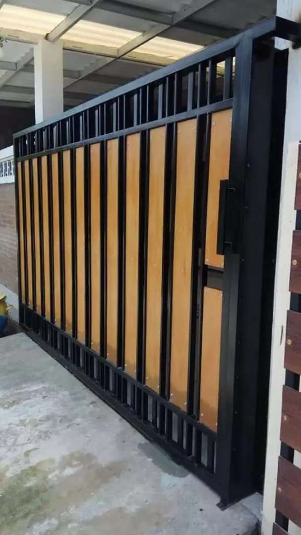 Pintu Pagar Dorong Minimalis Variasi Serat Kayu GRC - Lain-lain - 789338611