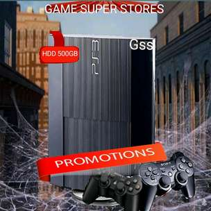 ps 3 ps3 sony superslim hdd 500gb + game