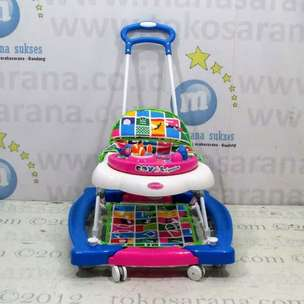 Royal RY8688 AquaBlue Melody 3 in One Baby Walker, Rocker Dorongan