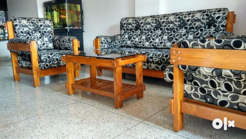 Pleasant Teak Wood Sofa Set At Throw Away Price Sofa Dining Customarchery Wood Chair Design Ideas Customarcherynet