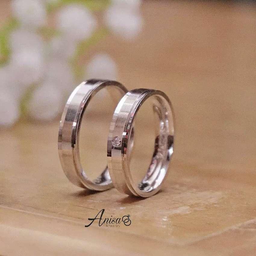 Cincin Kawin Lamaran Emas Putih Free Kotak Cincin Exclusive Perhiasan 793634930