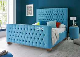 King size BED in sky blue.