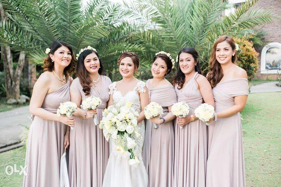 Infinity Dress Bridesmaid Dress Wedding Entourage Multi way Gowns in ...