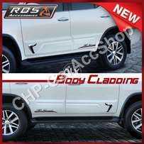 Body Cladings For Toyota Fortuner 2017