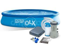 28158 INTEX (15ft/33inc) round easyset swimming pool.