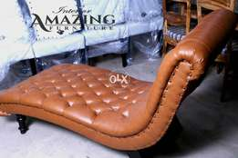 New full cushion tufted | Royal setty in imported leatheright.