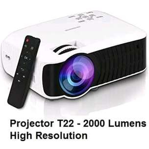 Projector proyektor T22 , 2000 Lumens hight resolution