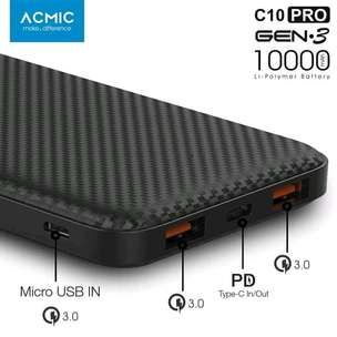 powerbank ACMIC C10 PRO 3 output bergaransi