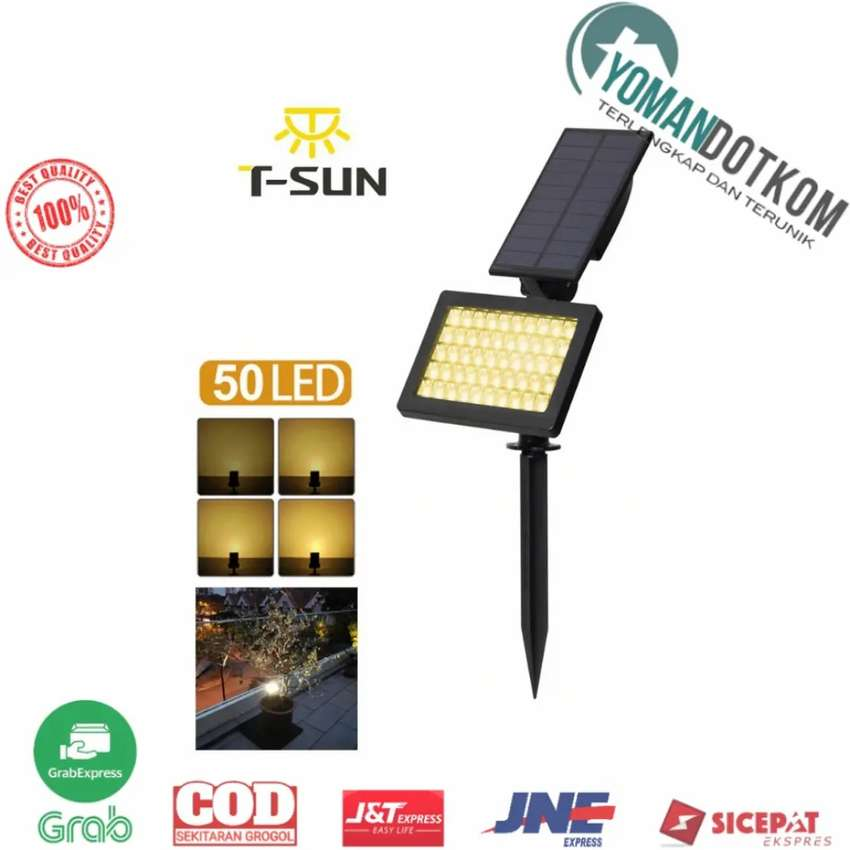 Ts G0202 T Sun Lampu Taman Energi Solar Panel Outdoor Light 50 Led Lampu 811073201