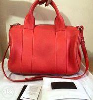 c6ab1ff523f9 Auth Alexander Wang Rocco Lamb Leather Sarchel Bag Kors Spade Givenchy