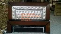 8 Poshish bed in light brown rexion