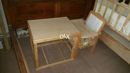 Baby small table and chair