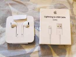 iPhone X Box Handsfree and Apple certified lighting cable